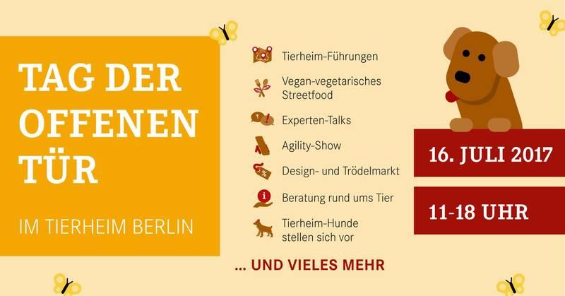 Gratis in berlin tag der offenen t r im tierheim berlin for Tag der offenen tur berlin