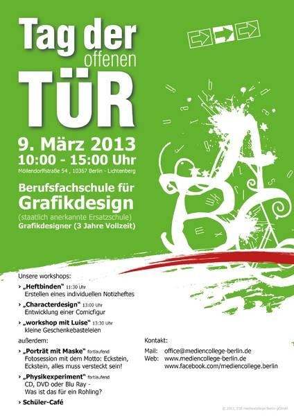Gratis in berlin tag der offenen t r am mediencollege berlin for Tag der offenen tur berlin