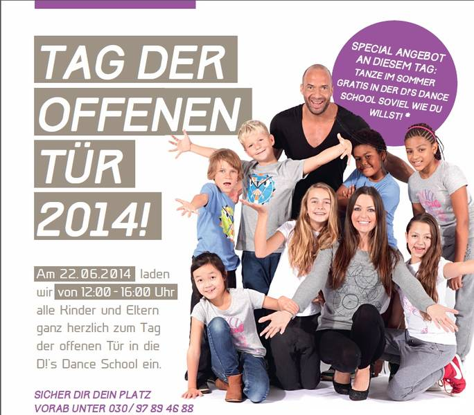 Gratis in berlin tag der offenen t r tanzschule detlef for Tag der offenen tur berlin