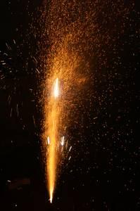 Feuerwerk Tegel in Flammen auf Hafenfest