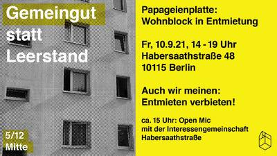 Gemeingut statt Leerstand - Habersaathstraße 48, Mitte