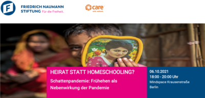 Heirat statt homeschooling? Schattenpandemie: Frühehen als N...