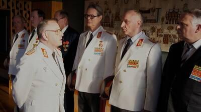 Kaspar Eichel (links) als Minister für Staatssicherheit. Quelle: Jens Becker