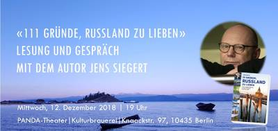 """Lesung: """"111 Gründe, Russland zu lieben"""" mit Jens ..."""