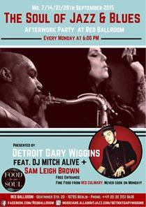 Monday Afterwork Soul of Jazz & Blues @Red Ballroom by D...