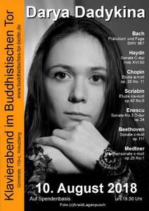 Klavierabend mit Darya Dadykina im Buddhistischen Tor Berlin