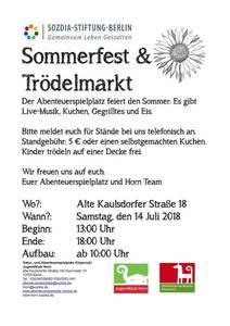 Sommerfest + Trödelmarkt auf dem Abenteuerspielplatz Köpenic...