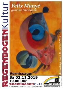 """""""Gemalte Emotionen"""" - Ausstellung im RegenbogenCaf..."""