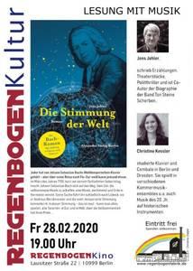 """""""Die Stimmung der Welt"""" - Lesung mit Musik im Rege..."""
