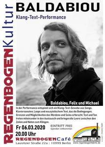 """Baldabiou"" - Text-Klang-Performance im Regenbogen..."