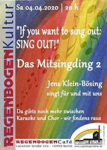 """""""Das Mitsingding 2"""" - Mitsingabend im RegenbogenCa..."""