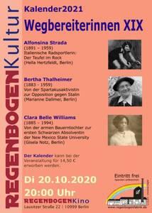 """""""Wegbereiterinnen XIX"""" - Kalenderpräsentation im R..."""