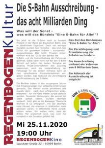 """""""Die S-Bahn Ausschreibung"""" - Online-Konferenz (Reg..."""