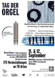 Tag der Orgel – 11. & 12. September 2021
