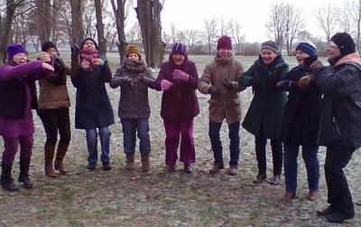 Neujahrs-Lachen auf dem Tempelhofer Feld