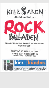 LIVE       -      Rock Balladen      Café ZAP / Charlottenbu...