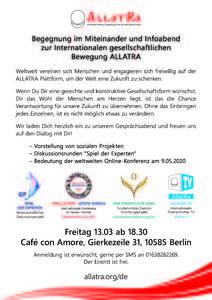 Begegnung ALLATRA soziale Projekte