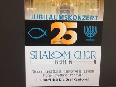 Jubiläumskonzert: 25 Jahre Shalom-Chor in Berlin