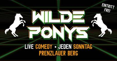 "STAND-UP COMEDY • in P-Berg • 20.00 Uhr // ""WILDE PONYS..."
