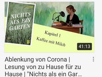 """(Corona-) Lesung von zu Hause für zu Hause, Anne Kanis, """"Nic..."""
