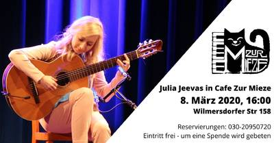 Guitar concert in Cafe Zur Mieze