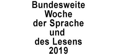Woche der Sprache und des Lesens 2019