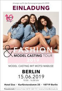 Einladung zu sheego Curvy Model Casting in Berlin