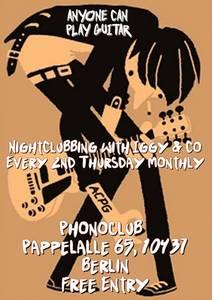New Clubnight at Phonoclub P-Berg: Anyone Can Play Guitar