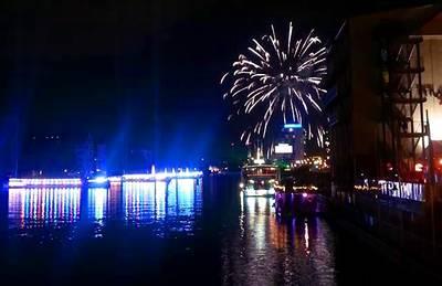 Aquarella: Feuerwerk, Schiffsballett und Lasershow