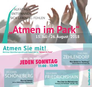 Atmen im Volkspark Friedrichshain