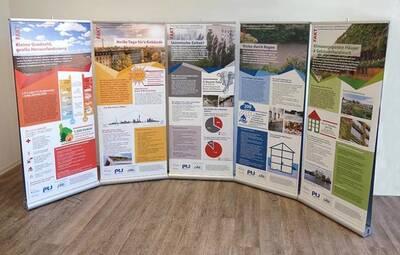 Rollup-Ausstellung zur Klimaanpassung