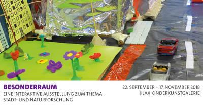 """Ausstellung in der Klax Kinderkunstgalerie """"BesonderRau..."""