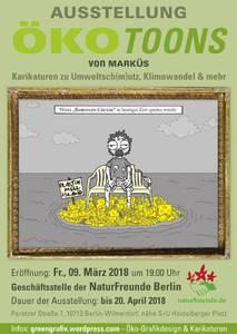 Umwelt-Karikaturen in der NaturFreunde Galerie