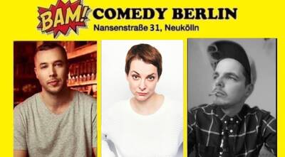 ★ BAM! Comedy Show ★ Stand Up in Neukölln / U-Bhf Hermannpla...