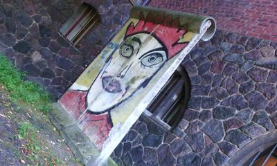 Mauer-Stücke vor dem Märkischen Museum