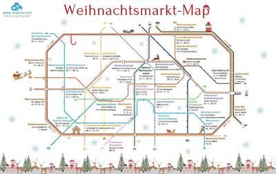 Berliner Weihnachtsmarkt Karte 2019