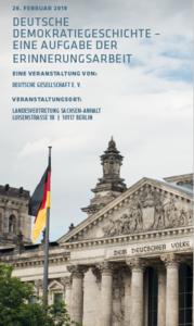 """Tagung """"Deutsche Demokratiegeschichte"""" am 26.02.2019"""