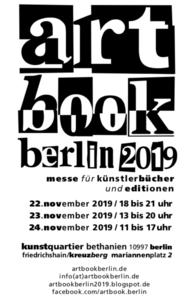 artbook.berlin2019 messe für künstlerbücher+editionen