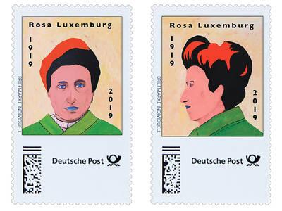 Eine Briefmarke für Rosa  – ein neues Projekt von Jeanne Fre...
