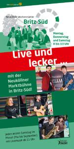Live und Lecker - die Bühne auf dem Wochenmarkt in Britz-Süd