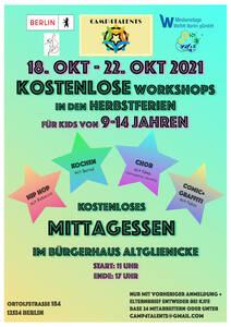 Camp4Talents - Kostenlose Workshops in den Herbstferien 18.1...