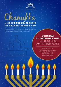 Chanukka Lichterzünden am Brandenburger Tor