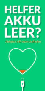 Qualifiziert engagiert - Helfer Akku leer?
