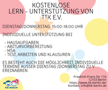 kostenlose individuelle Hausaufgabenhilfe (online oder persö...