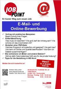 Infoveranstaltung: E-Mail- und Online-Bewerbung