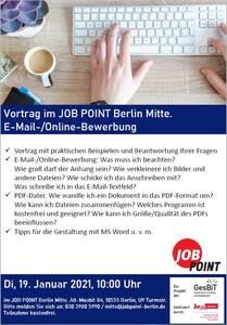 Online-Seminar: E-Mail- und Online-Bewerbung