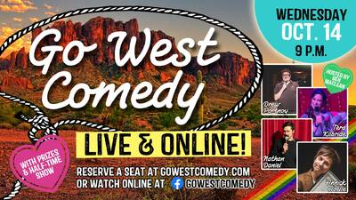 (CANCELLED) Go West Comedy Live & Online (Englisch)