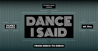 Dance I Said III - From Disco to Disco