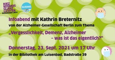 """Infoabend mit Kathrin Breternitz zum Thema """"Vergesslichkeit,..."""