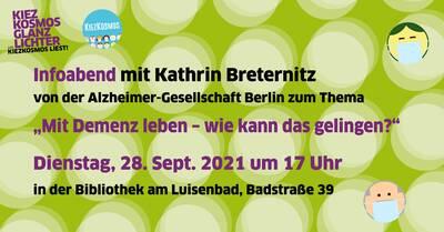 """Infoabend mit Kathrin Breternitz zum Thema """"Mit Demenz leben..."""